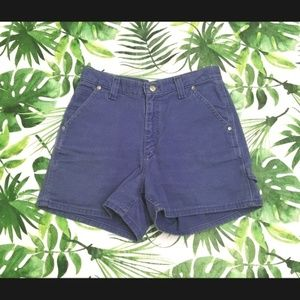 Vintage Lee Purple High Waist Denim Shorts